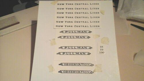 LIONEL PRE-WAR STANDARD SCALE 18-19-190 NYC SERIF BLACK WATERSLIDE DECAL LOOK!