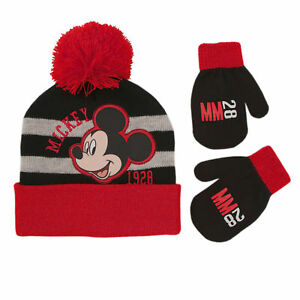 e72c0e0678429b Disney Mickey Mouse Hat and Mittens Cold Weather Set, Toddler Boys ...