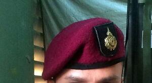 Details about Royal Thai army Ranger Red Beret hat Cap Headgear Soldier  Thai Military