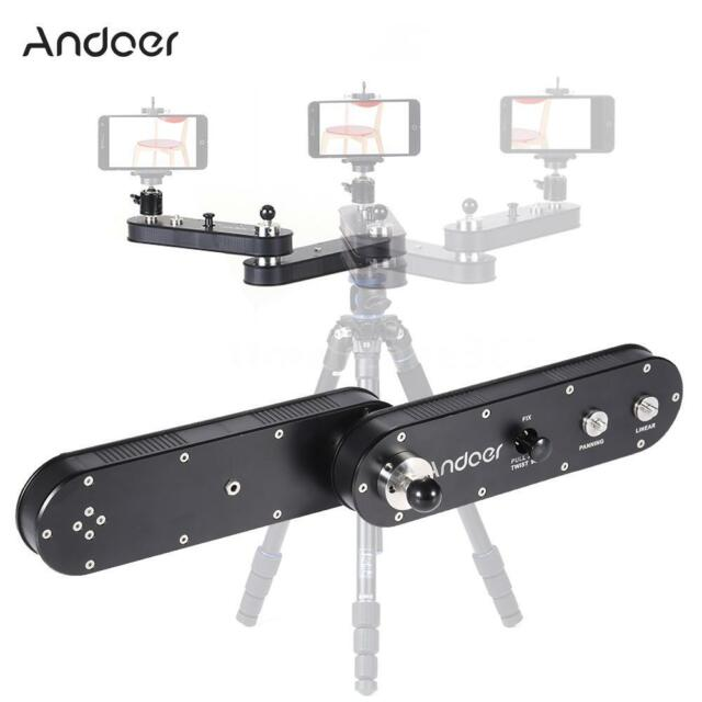 Andoer GT-V70 Portable Camera Slider with Panning and Linear Motion Extends B5E4