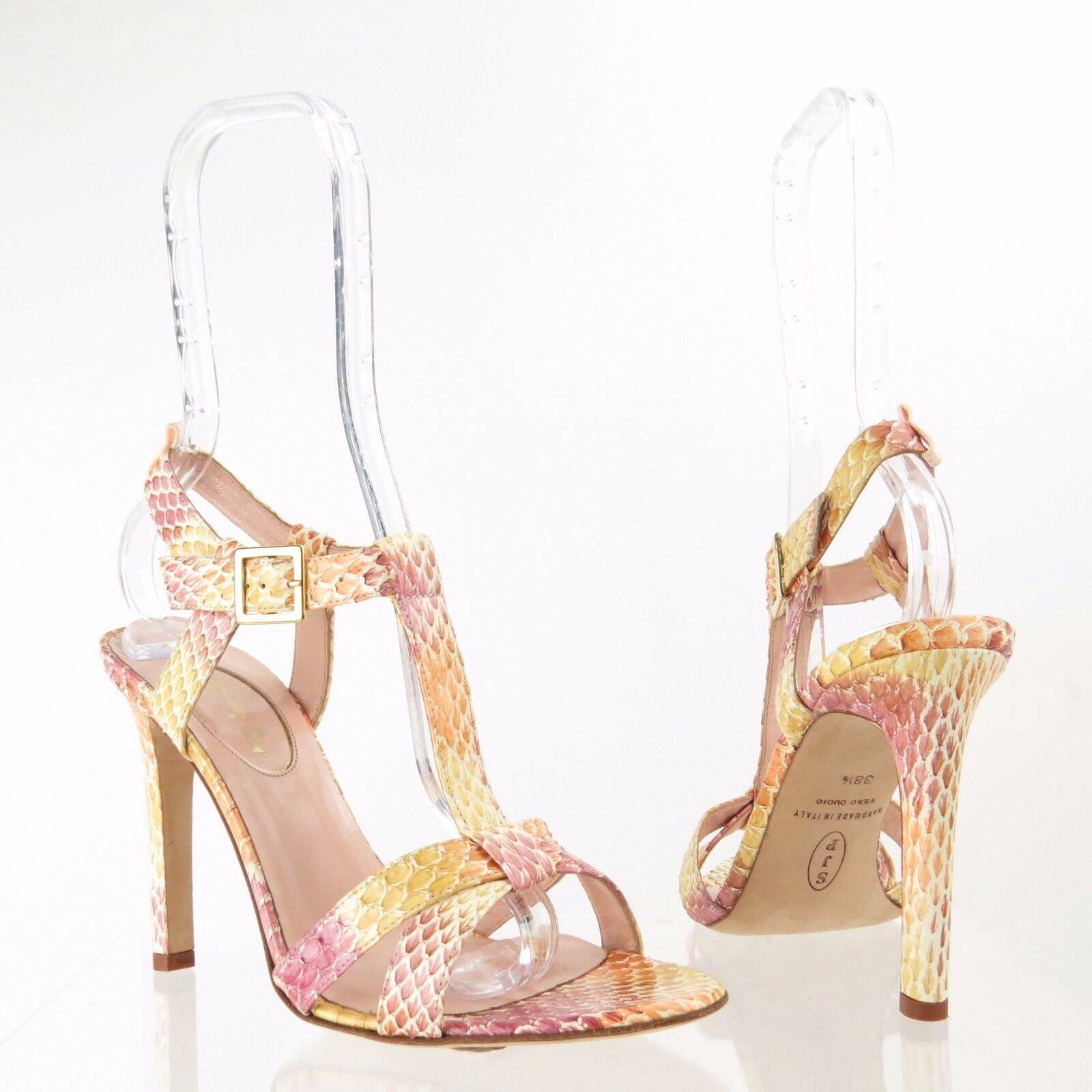 SJP SJP SJP Jo Womens shoes Leather Multi-color Snakeskin Print Heels Sz EU 38.5 NEW  395 1c725a