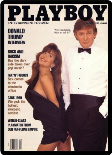 Tool Box  Magnet President Donald Trump Playboy Magazine Cover Refrigerator
