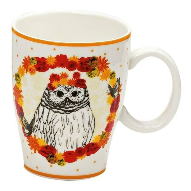Drawn To Nature Floral Owl Mug Fine China Tea Coffee Cup House Warming Gift Box