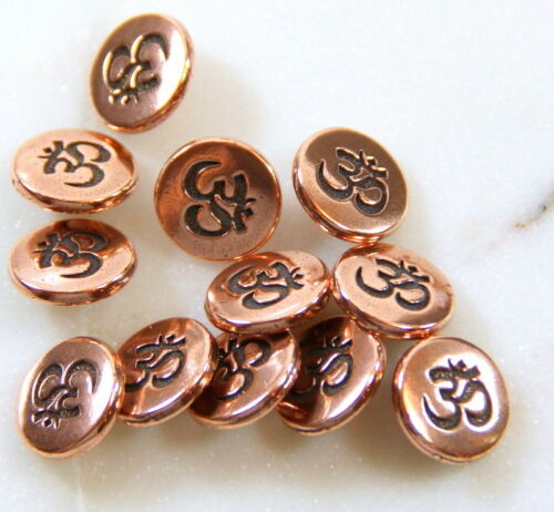 Antiqued Copper Small TierraCast Om Metal Shank Buttons 4 or More 8618