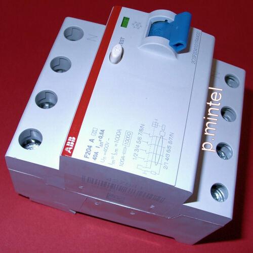 ABB FI-Schutzschalter F204A-40//0,5 40A  500mA  4-polig