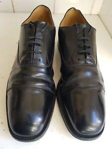 RUSSELL-BROMLEY-Size-UK-10-EU-44-Disenador-Para-Hombre-Negro-Cuero-Inteligente-Zapatos-Formales