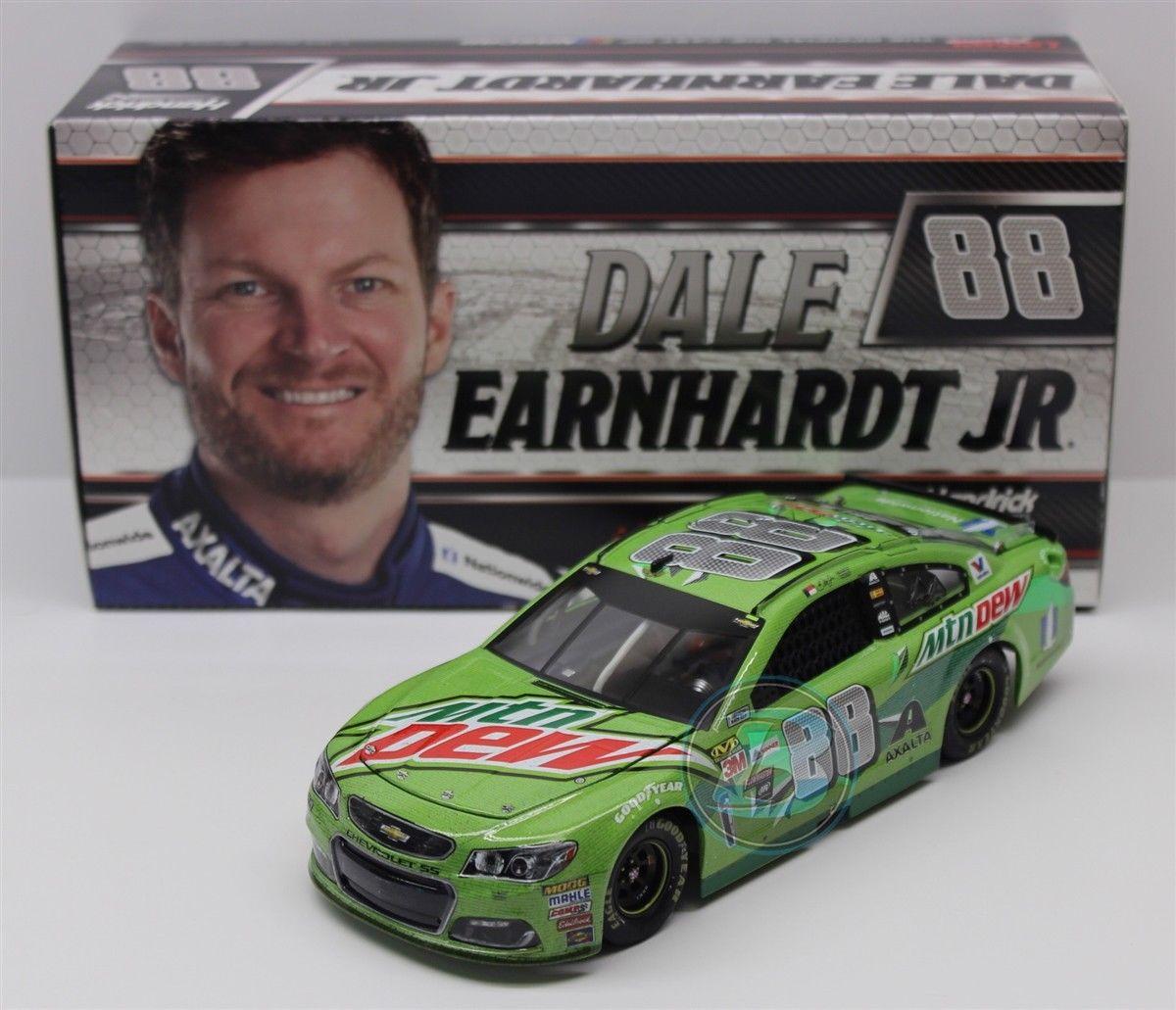NASCAR 2017 DALE EARNHARDT JR 88 MOUNTAIN DEW RIDE WITH DALE RACED VERSION 1/24