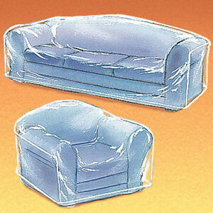 Clean Hard Plastic See Thru Heavy Duty Clear Sofa Cover Living Room Furniture Ebay