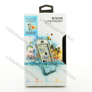 brand new b3ba7 5ad17 Details about LifeProof Nuud Waterproof Shockproof Hard Case For iPhone 5c  White Gray / Clear