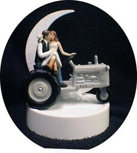 Country Western Tractor Wedding Cake Topper Farmer Barn Theme ...