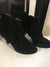 57acaf4b0e72 item 4 NEW PAUL GREEN Whoppee Fringe Suede Black Bootie Ankle heel Boot  Size 6