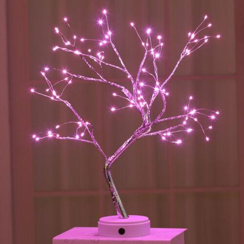36//108 LEDS USB Blossom Tree Night Lights Fairy Table Desk Pearl Lamp Home Decor