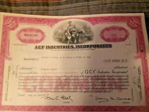 LOT-520-BUILD-A-RAILCAR-WITH-ACF-IND-Collection-of-4-Vintage-Stock-Certificates