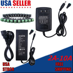 Power Supply Adapter AC To DC 12V 2A/3A/5A/6A/10A 5050 3528 LED Strip Light SALE
