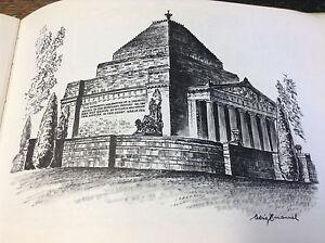 BRT-Very-Rare-Artist-Cedric-Emanuel-039-s-Melbourne-Sketch-Book-HC-First-Print-1976