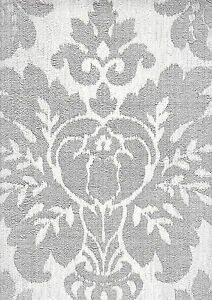 fabric damask silver & grey sparkle wallpaper