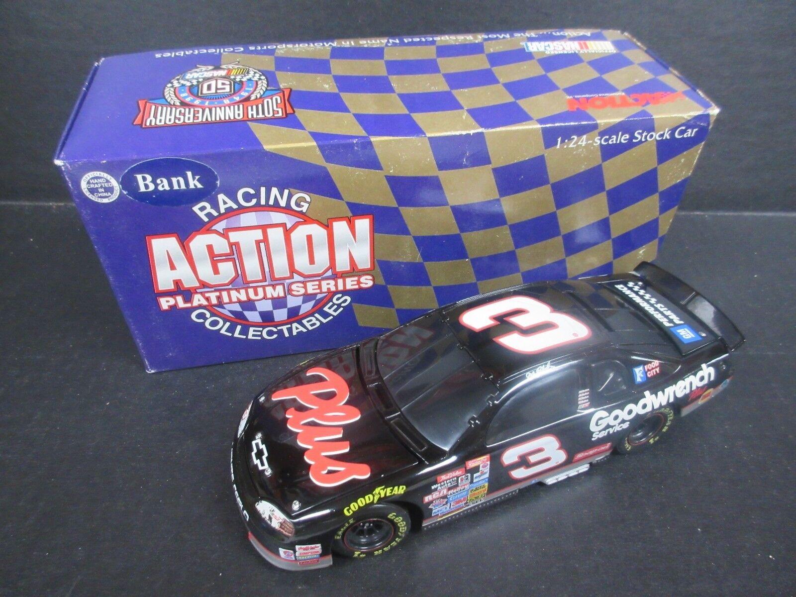 Acción de 1998  3 Dale Earnhardt Goodwrench Plus Plus Plus Banco coche  escala 1/24th 6b4da5