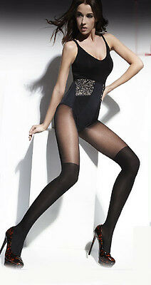 """MOCK SUSPENDER STOCKINGS-TIGHTS- 40/20 DENIER -TOP QUALITY -""""MADE IN ITALY"""""""