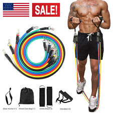 NEW Resistance Tubes Set 100lbs for Crossfit Home Gym Fitness Workout