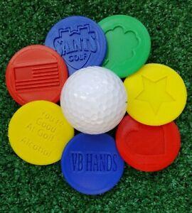 Custom 3D printed ball markers. 14 colors, Infinite design options! 2 per order.