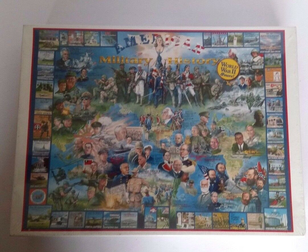 AMERICAN MILITARY HISTORY JIGSAW PUZZLE 1000 PIECES 24  X 30  NEW & SEALED