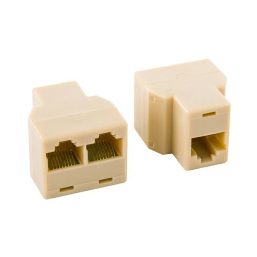 1 to 2 LAN Ethernet Networking Cables Splitter Extender Adapter Connector RJ45