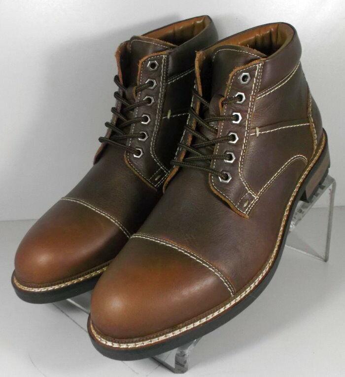 59NP218192 SPBT 50 Chaussures Hommes Taille 9 m Marron Bottes en cuir Johnston & Murphy
