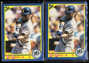 a392ad49b3 2) LOT 1990 SCORE #560 KEN GRIFFEY JR MINT BASEBALL CARDS | eBay