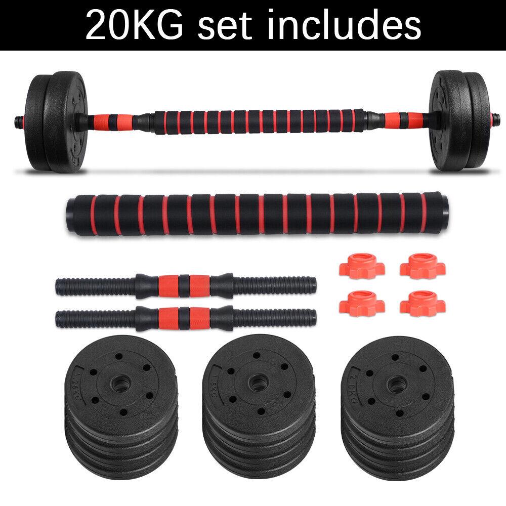 Kit de Mancuernas Gimnasios Casa Pesas Barra Dumbbell Set Para Fitness 20KG