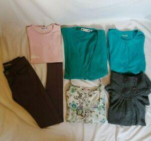 LOT-de-6-vetements-fille-14ans-pantalon-gris-stretch-tee-shirt-Orchestra