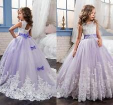 NeUe Blumenmädchen Kinder Kleid Prinzessin Kommunion Mädchen Ballkleid Kleider