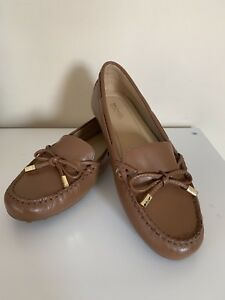 ecd7cfca29485 Details about NEW! Michael Kors Daisy Moc Vachetta Leather Loafer Flat  Luggage Size 7.5