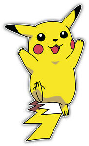 /'/'SIZES/'/' Pokemon Cartoon Slogan Sticker Bumper Decal
