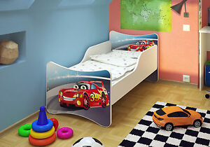 bfk car kinderbett jugendbett 70x140 matratze. Black Bedroom Furniture Sets. Home Design Ideas