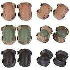 4PCS Knee Elbow Wrist Protective Nylon ABS Pad Protector Sport Tactical 3 Colors
