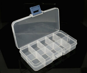 Genial Image Is Loading Small Plastic Storage Box With 10 Compartments 13cm