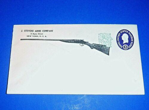 Vintage J. STEVENS ARMS COMPANY Envelope w/Stamped 1c & Embossed 3c Stamp