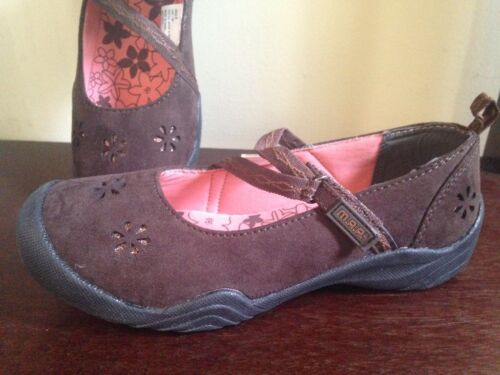 MAP Girls Style India Brown Mary Jane Style Walking School Shoes Rubber Bottom