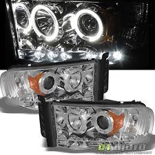 Chrome 03-05 Dodge Ram 2500 3500 / 02-05 Ram 1500 LED Halo Projector Headlights