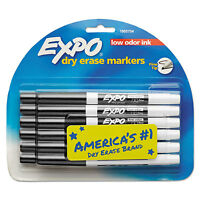 Expo Low Odor Dry Erase Marker Fine Point Black Dozen 86001 on sale