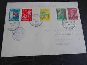 Nederland 731/735 op brief van SS Nieuw Amsterdam Jamaica - Hamburg 1960