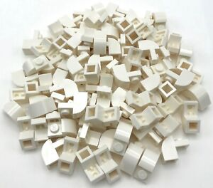 Lego-100-New-White-Bricks-Modified-1-x-2-x-1-1-3-with-Curved-Top-Pieces