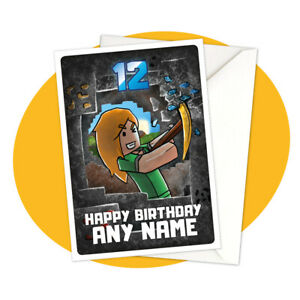Alex-Mining-PERSONALISED-BIRTHDAY-CARD-Minecraft-themed-gamer-personalized