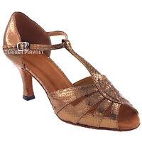 TPS Latin Ballroom Salsa Custom-made Dance Shoes D24