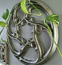 """Gothic Tracery Wall Hanging Panel, 19.5"""" Round x 1"""" Thick, Home Decor Decoration"""