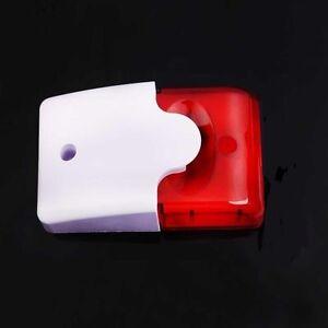 Outdoor Wired Alarm LED Strobe Light, 110dB, 6V - 12V Siren Security, USA Seller