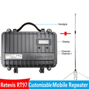Details about Retevis RT97 Radio Repeater Power Divider UHF Repeater+  45 7''390-470MHz Antenna