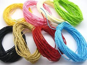 100-Meters-Mixed-Color-Mulberry-Paper-String-Cord-Twine-Craft-Floristry-10-Color