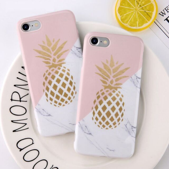 outlet store a5f4a 160ef Shoptagr | Shockproof Granite Marble Pineapple Soft Phone Case Cover ...