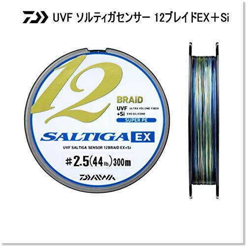 Daiwa Pe  Line UVF SALTIGA SENSOR 12 BRAID EX+Si 300M 2.5 44Ib. 20kg Multi-color  for your style of play at the cheapest prices
